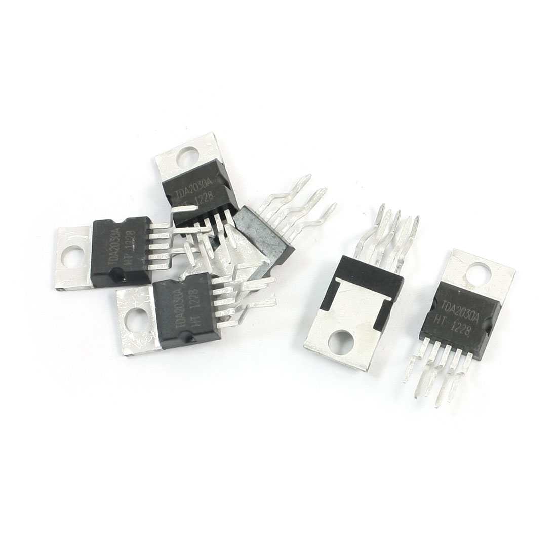 6Pcs TDA2030A TO-220 5-Pin 18W Hi-Fi Audio Amplifier 35W Low Power Driver Integrated Circuit IC Chip