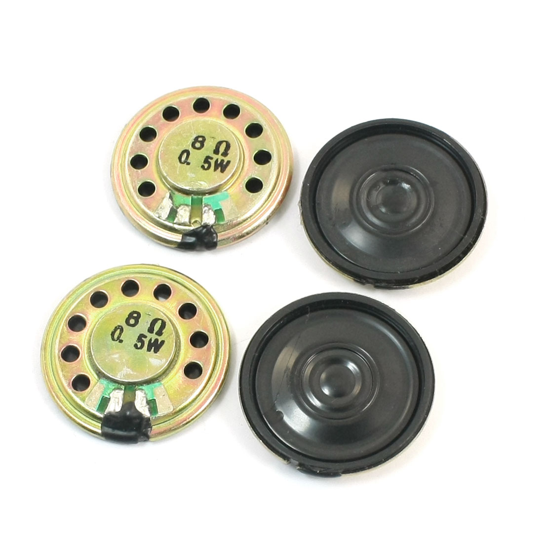 4Pcs 0.5W 8 Ohm 28mm Dia Round Metal Internal Magnet Electronic Toys Music Player Mini Speaker Loudspeaker