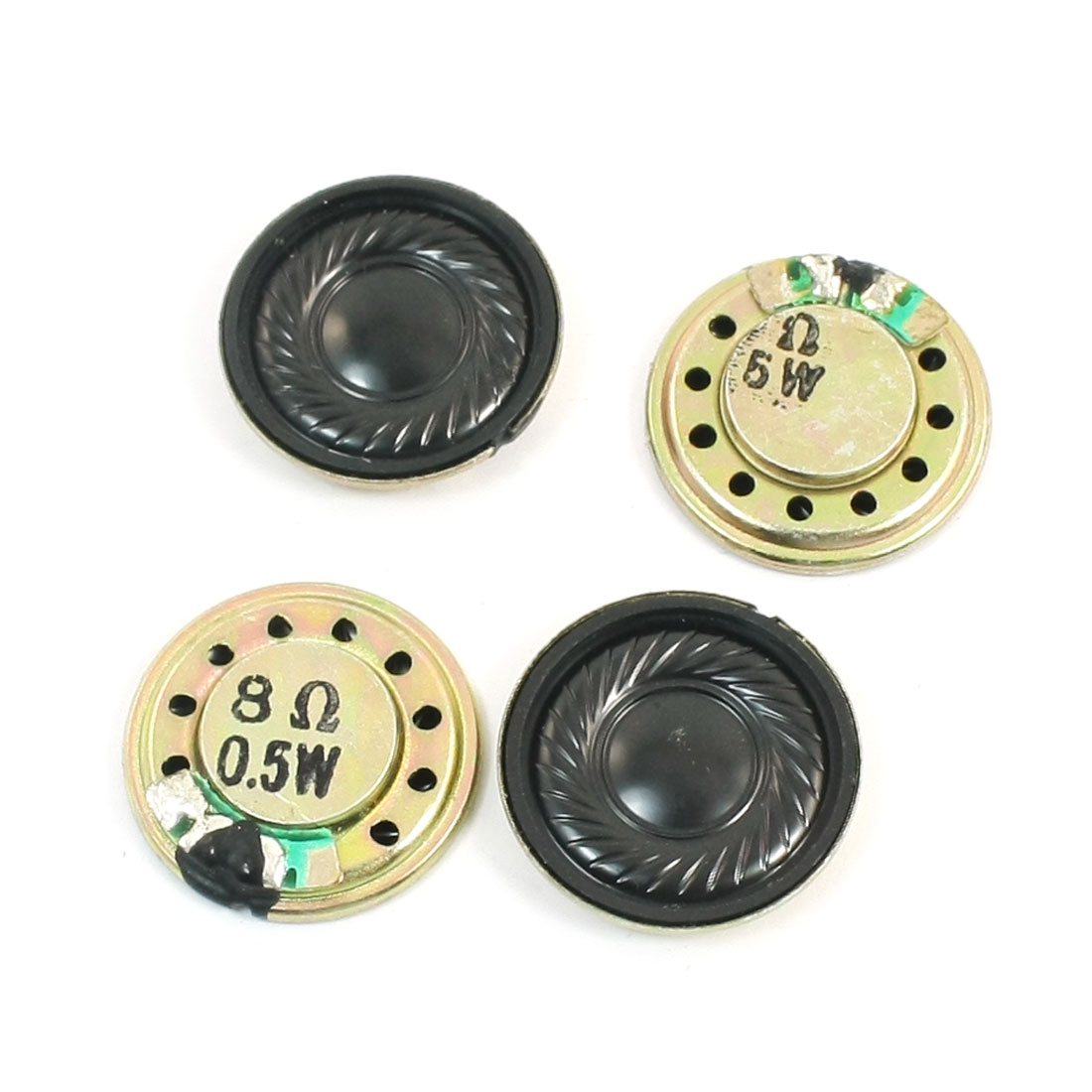 Music Player Part Round Metal Internal Magnetic Sealed Speaker 8 Ohm 0.5W 20mm Dia 4Pcs