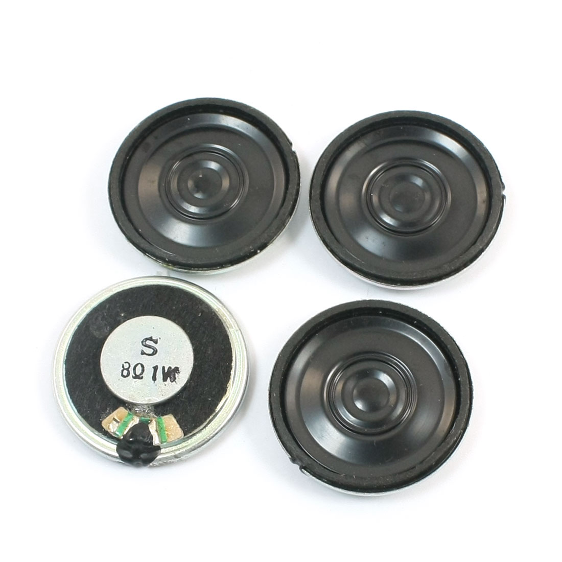 4Pcs 1Watt 8 Ohm 28mm Dia Metal Shell Internal Magnet Mini DVD EVD Speaker Loudspeaker Amplifier Replacement