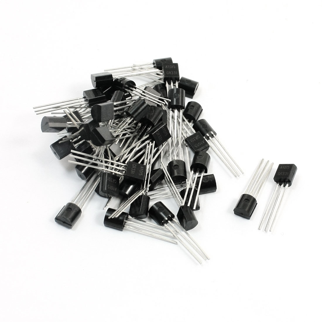 2SA1015 PNP TO-92 Electric Component 3 Pins Through Hole PCB Surface Mount General Purpose Power Transistor 50V 0.15A 50Pcs