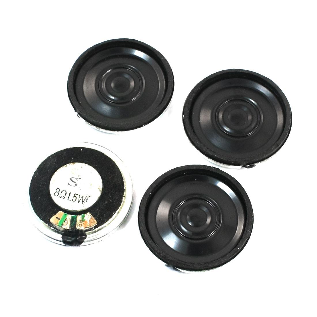 1.5W 8 Ohm Metal Shell Internal Magnet Electronic Toy Audio Speaker Amplifier Loudspeaker 4Pcs