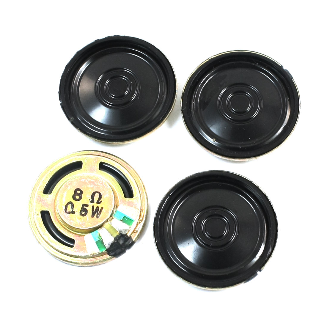 0.5W 8 Ohm 23mm Dia Metal Shell Internal Magnet Electronic Toy DVD/EVD Player Audio Speaker Amplifier Loudspeaker 4Pcs