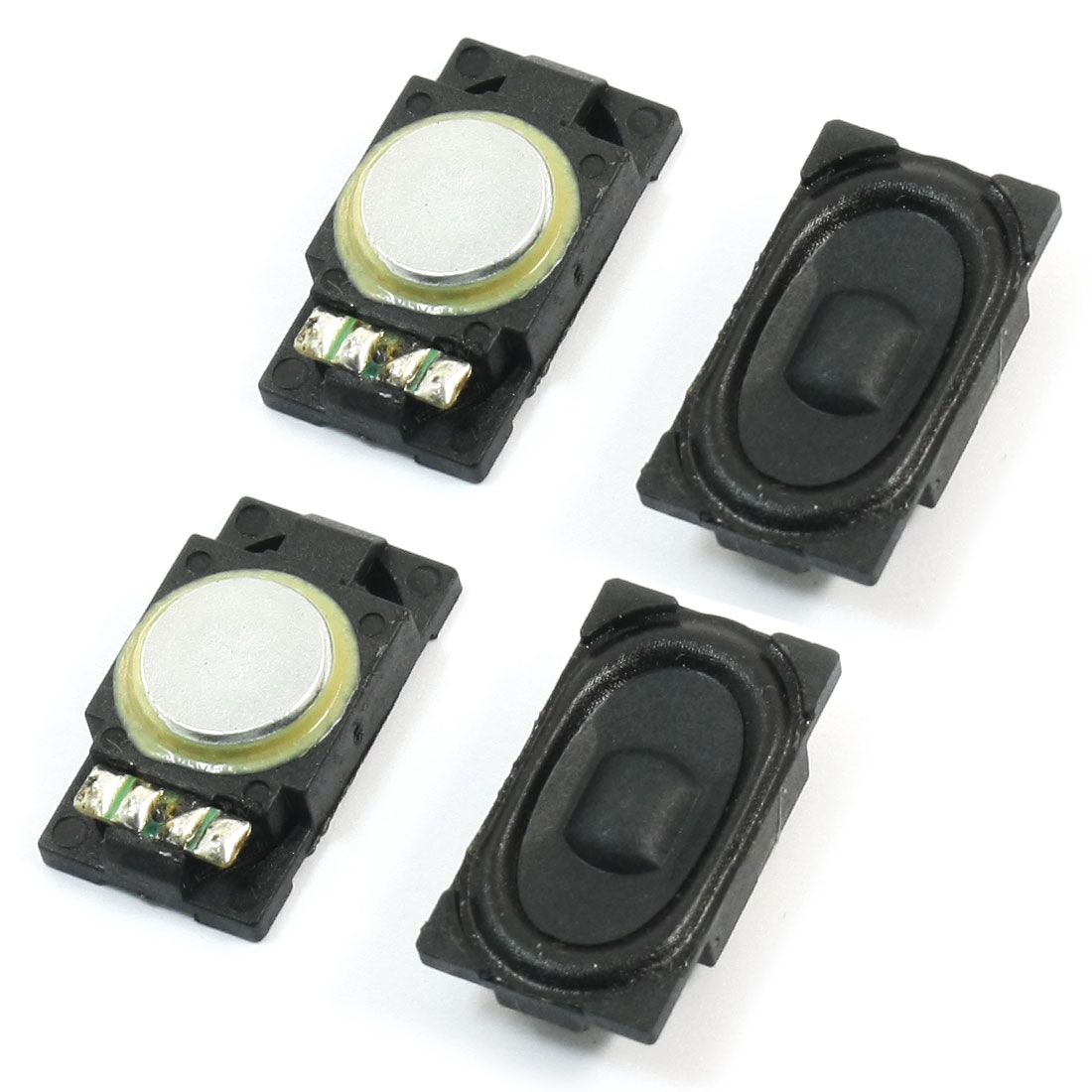 4 Pcs 25mm x 15mm Rectangle Plastic Shell Magnetic Type Notebook Audio Speaker Loudspeaker Amplifier Trumpet Horn 1W 8 Ohm