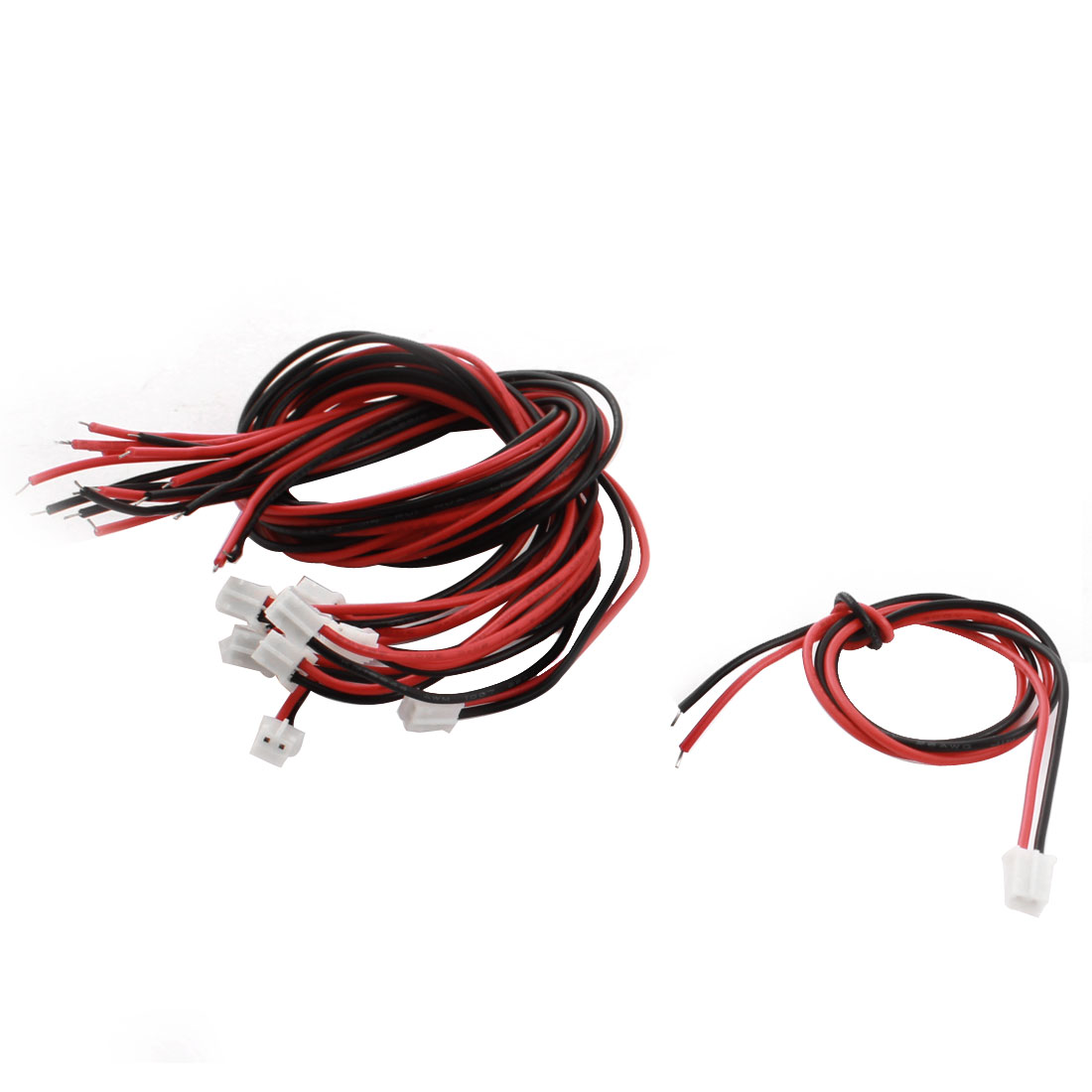 """10 Pcs 2mm Single End Male JST-XH Balance Connector Adapter Extension Wire 12"""" 300mm"""