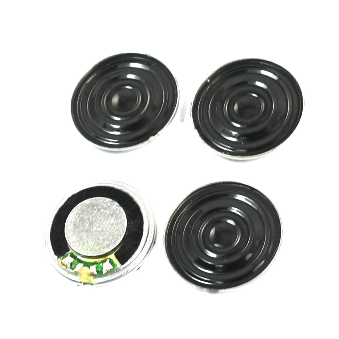 Replacement Portable DVD EVD 1W 8 Ohm Round Metal Shell Internal Magnet Mini Speaker Amplifier Loudspeaker 20mm Dia 4 Pcs