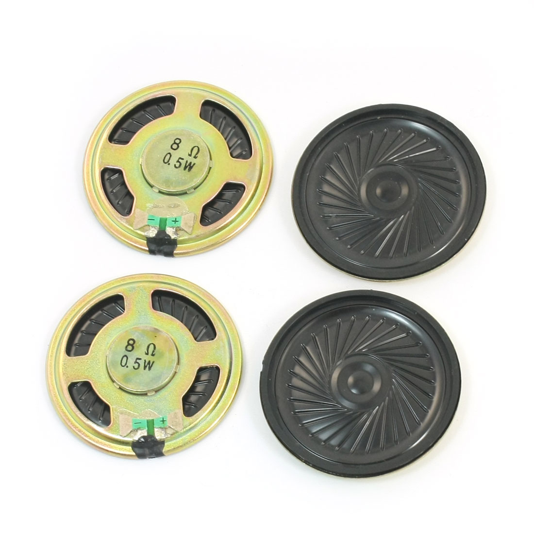 4Pcs 0.5W 8 Ohm 45mm Dia Round Metal Internal Magnet Electronic Toys Music Player Speaker Loudspeaker