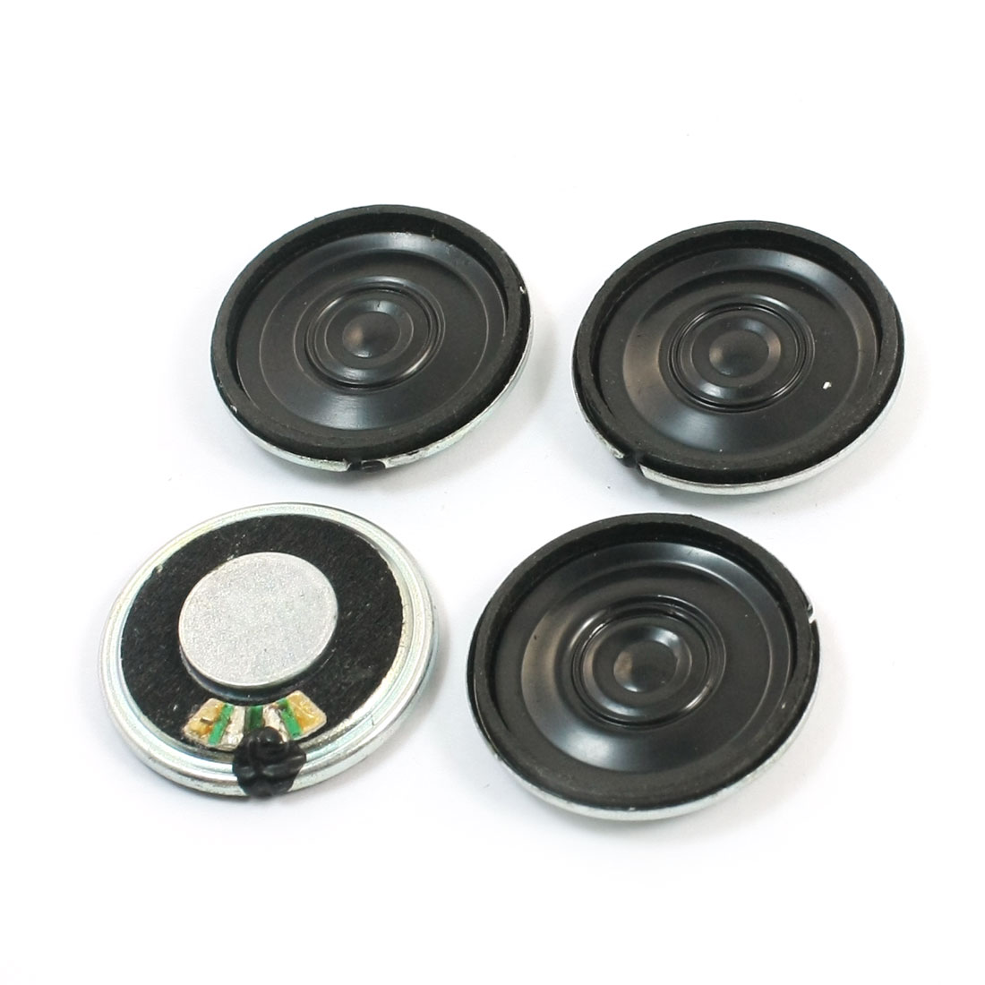 0.5W 4 Ohm 28mm Round Metal Shell Internal Magnetic Electronic Toy Audio Speaker Loudspeaker Amplifier 4Pcs