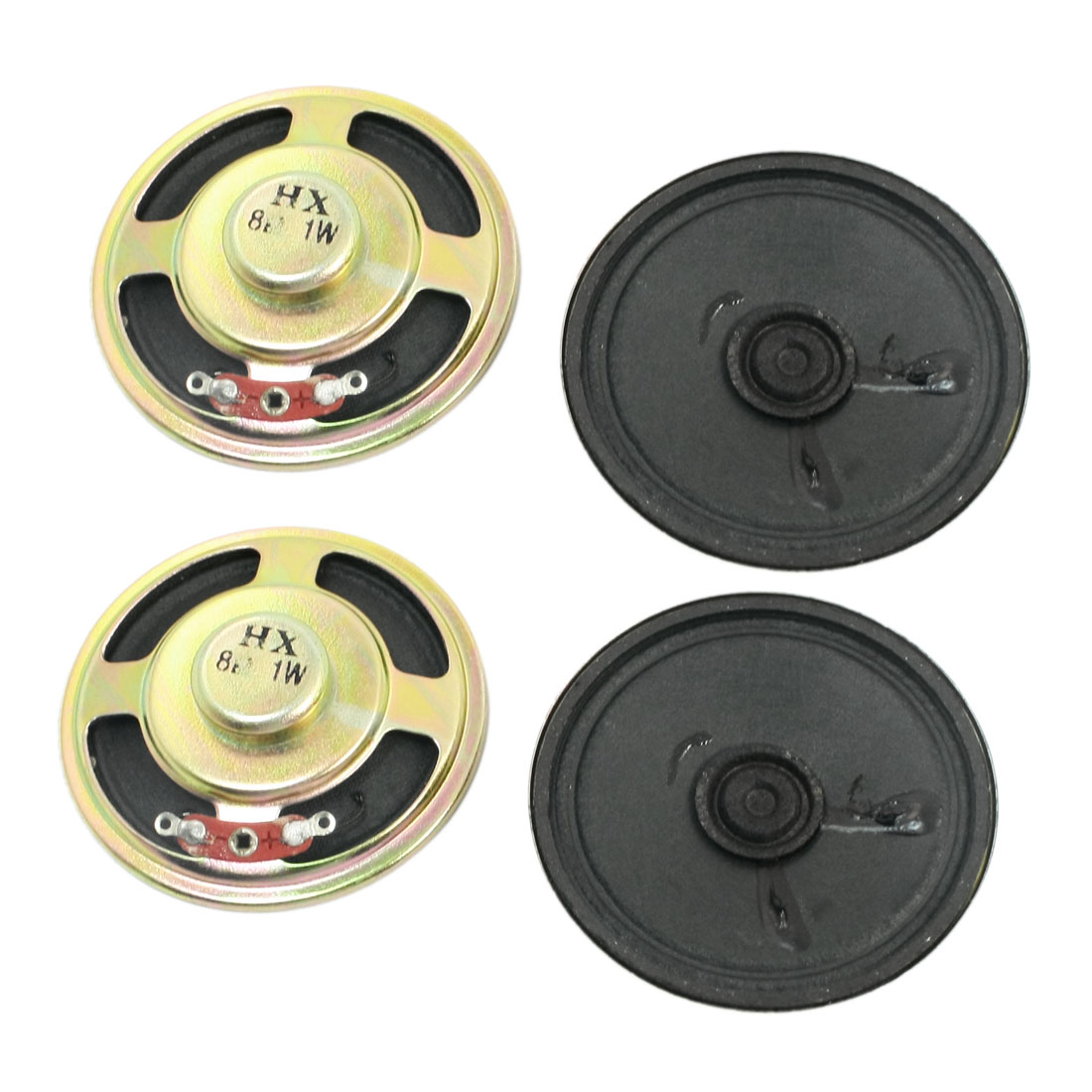 Music Player Part Magnetic Sealed Type Round Metal Speaker Loudspeaker Amplifier 8 Ohm 1W 57mm Dia 4Pcs