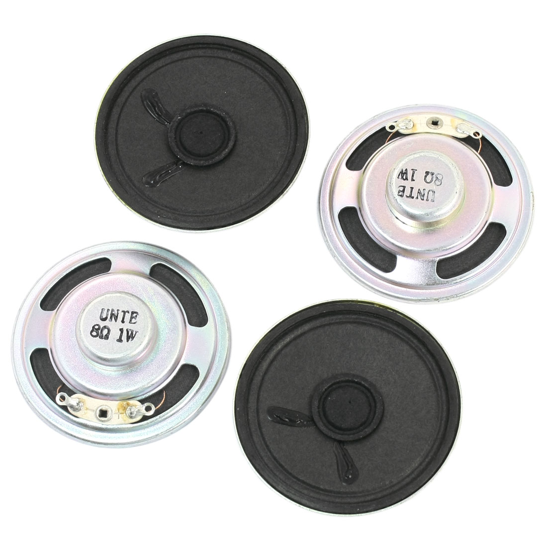 4Pcs 1W 8 Ohm 50mm Dia Round Metal Internal Magnet Electronic Toys Music Player Speaker Loudspeaker