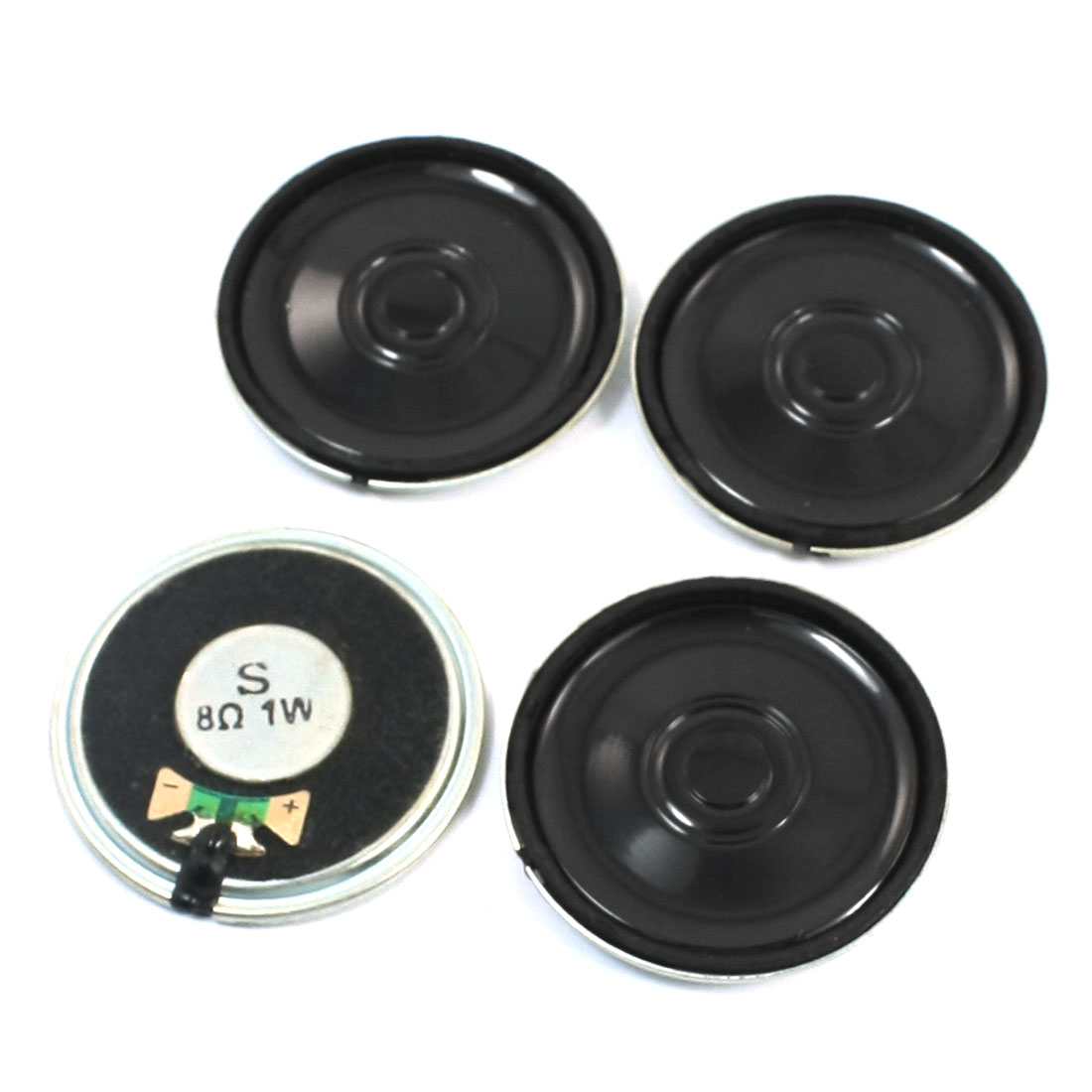 4Pcs 40mm Round Metal Shell Internal Magnet Speaker Audio Loudspeaker Interphone Trumpet 8 Ohm 1W