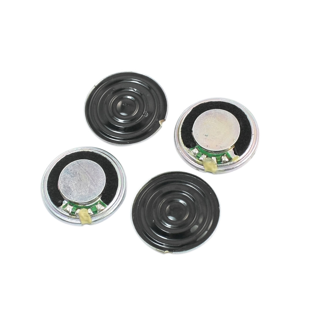 20mm Dia Round Metal Case Internal Magnet Type Toy Interphone Speaker Loudspeaker Horn Trumpet 1W 8 Ohm 4Pcs