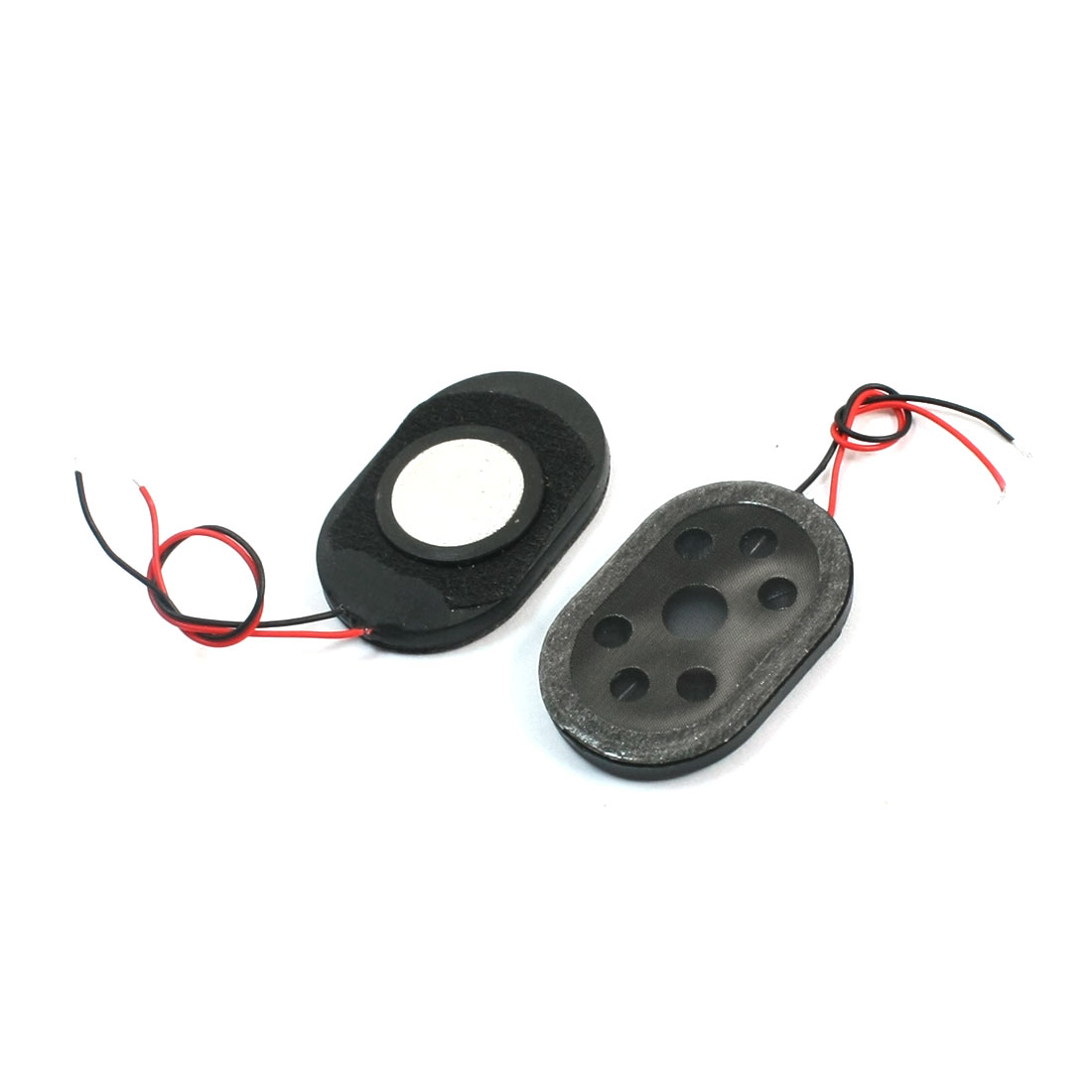 2Pcs 1Watt 8 Ohm 2-Wired Oval Plastic Shell Global Position System Navigator Voice Amplifier Speaker Loudspeaker Horn 30mm x 20mm