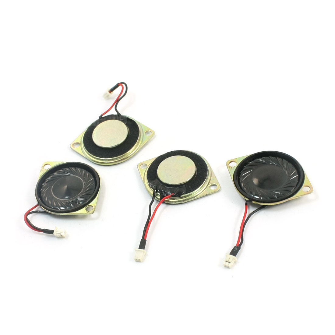 4Pcs 28mm Dia 4-Pin Balance Plug Connect Metal Case Magnet Speaker Audio Amplifier Loudspeaker 2W 8 Ohm for Music Player