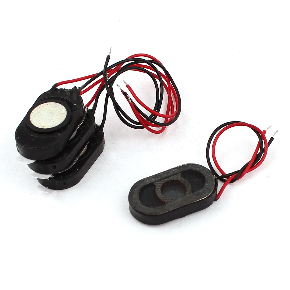 4Pcs 1W 8 Ohm 2-Wire Oval Shaped Plastic Case MP3 MP4 MP5 Autio Player Speaker Loudspeaker Amplifier Trumpet 18mm x 10mm