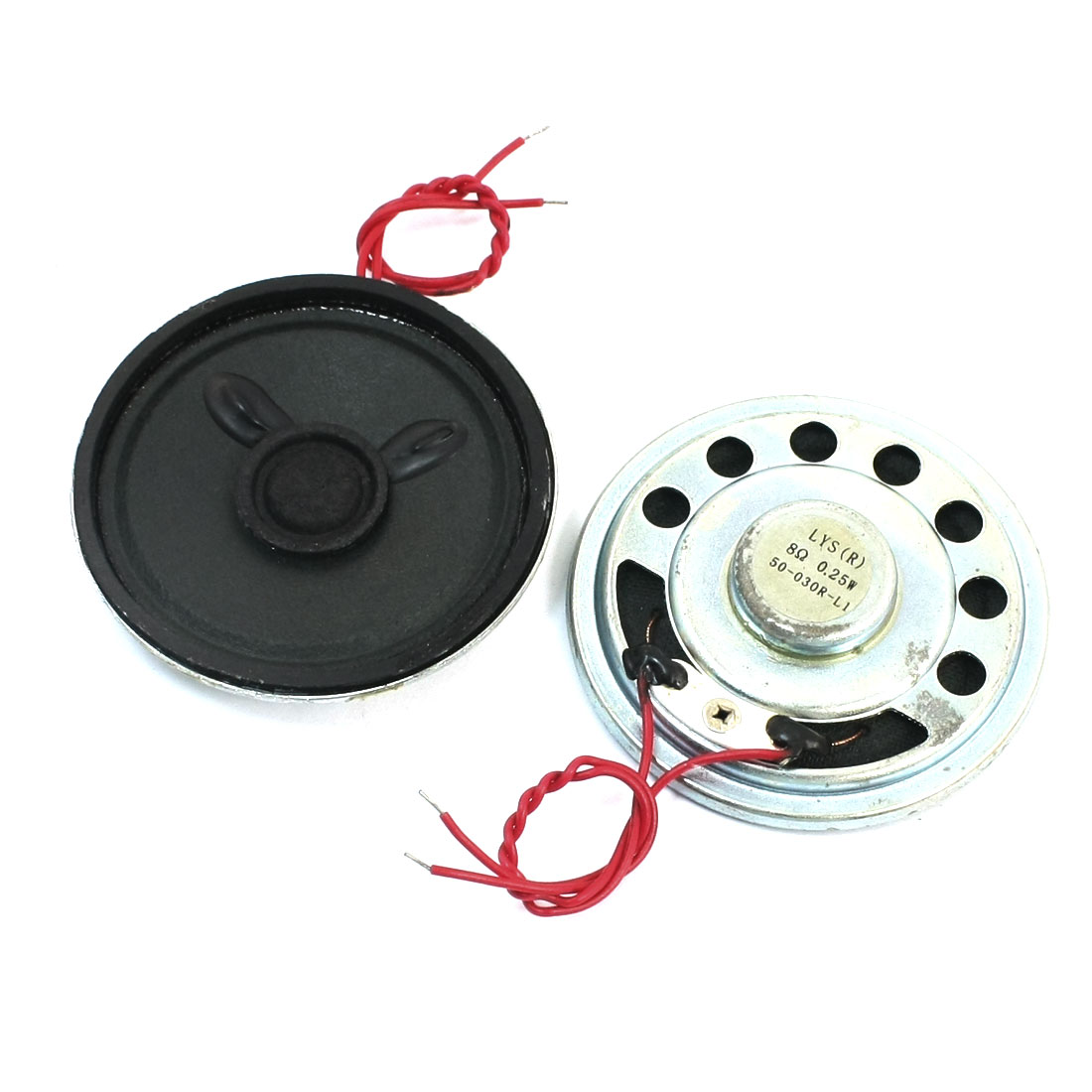 Music Player 50mm Dia Round Magnet Sealed Round Metal Mini Speaker Loudspeaker 8 Ohm 0.25W 2Pcs