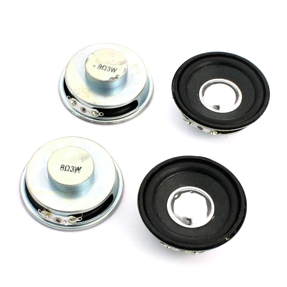 4 Pcs 3W 8 Ohm 50mm Round Aluminum Shell Internal Magnetic Type Full Range Car Speaker Amplifier Loudspeaker Trumpet