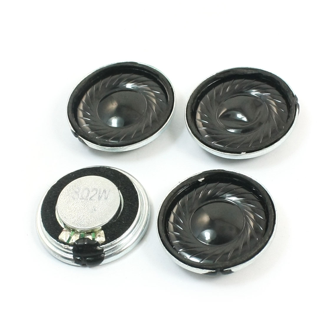 4 Pcs 2W 8 Ohm 23mm Dia Round Metal Shell Internal Magnet DVD/EVD Music Player Audio Speaker Loudspeaker Amplifier