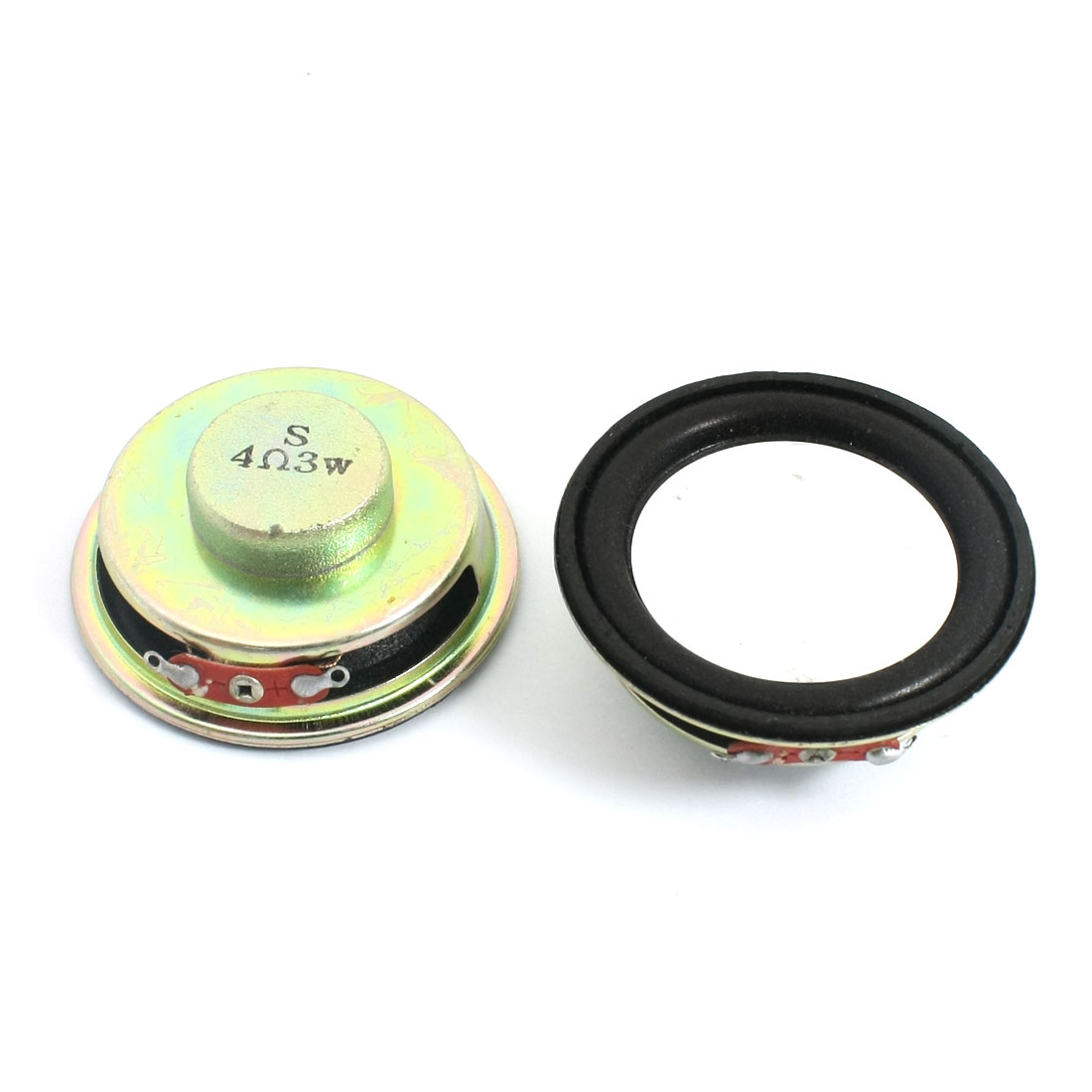 2 Pcs 3W 4 Ohm 50mm Dia Round Metal Shell Internal Magnetic Type LCD Ad Player Audio Speaker Amplifier Loudspeaker