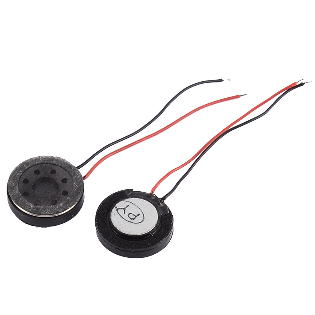 1Watt 8 Ohm 15mm Dia 2-Wired Round Mini Magnet MP3 MP4 Phone Speaker Loudspeaker 2 Pcs