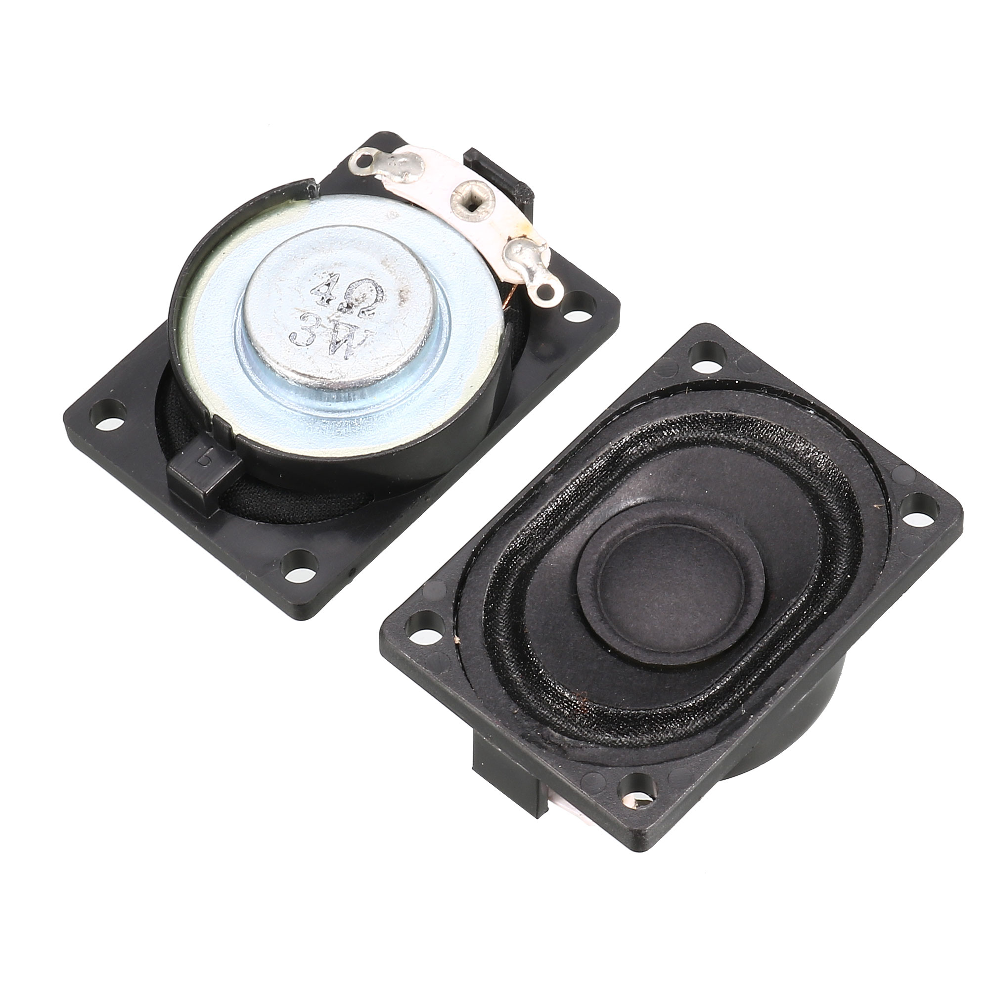 2 Pcs 40mm x 28mm Magnetic Speaker Notebook Displayer LCD Ad Player Audio Amplifier 3W 4 Ohm Replacement