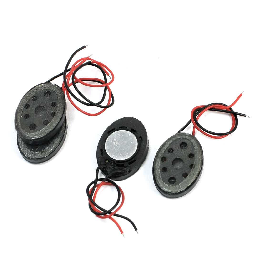 4Pcs 1Watt 8 Ohm Oval Shape Plastic Case Magnetic Audio Speaker Loudspeaker Amplifier Trumpet for Tablet PC
