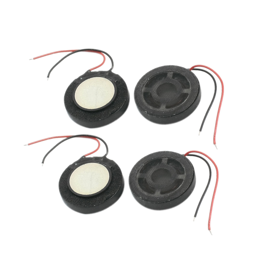 4Pcs 1W 8 Ohm Dual Wire Connecting Self-adhesive Type Round Mini Magnetic Phone MP3 MP4 Player Speaker