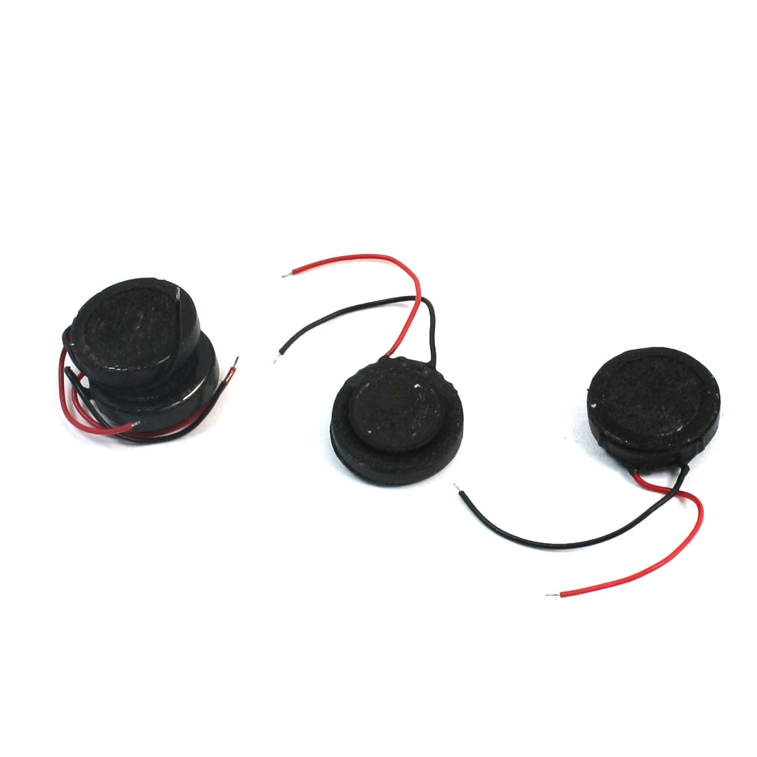 4Pcs 1W 8 Ohm Dual Wire Self-adhesive Type Round Mini Magnetic Phone MP3 MP4 Player Speaker 13mm Dia