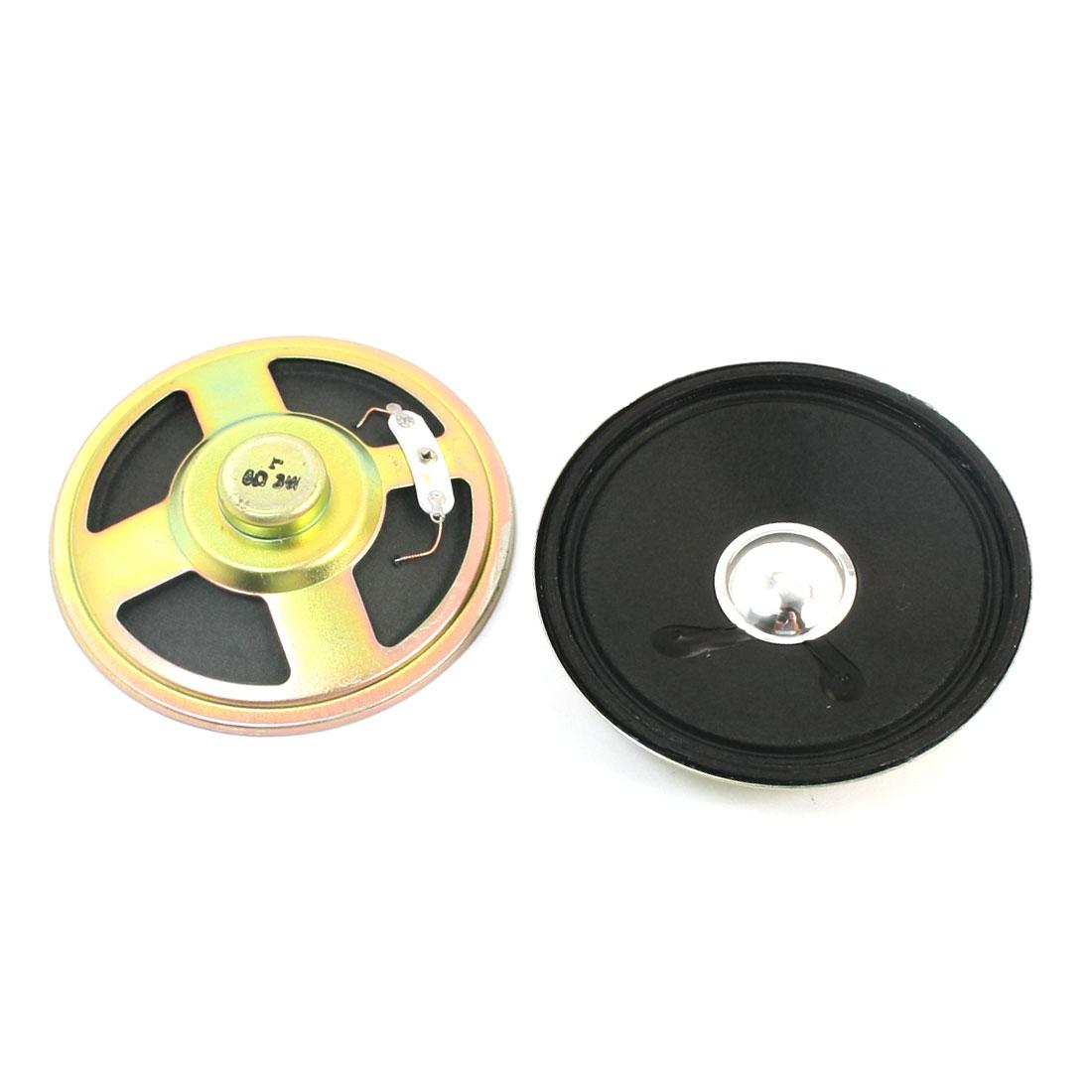 3Watt 8 Ohm Round Metal Housing Internal Magnetic Music Player Speaker Loudspeaker Horn 77mm 2Pcs