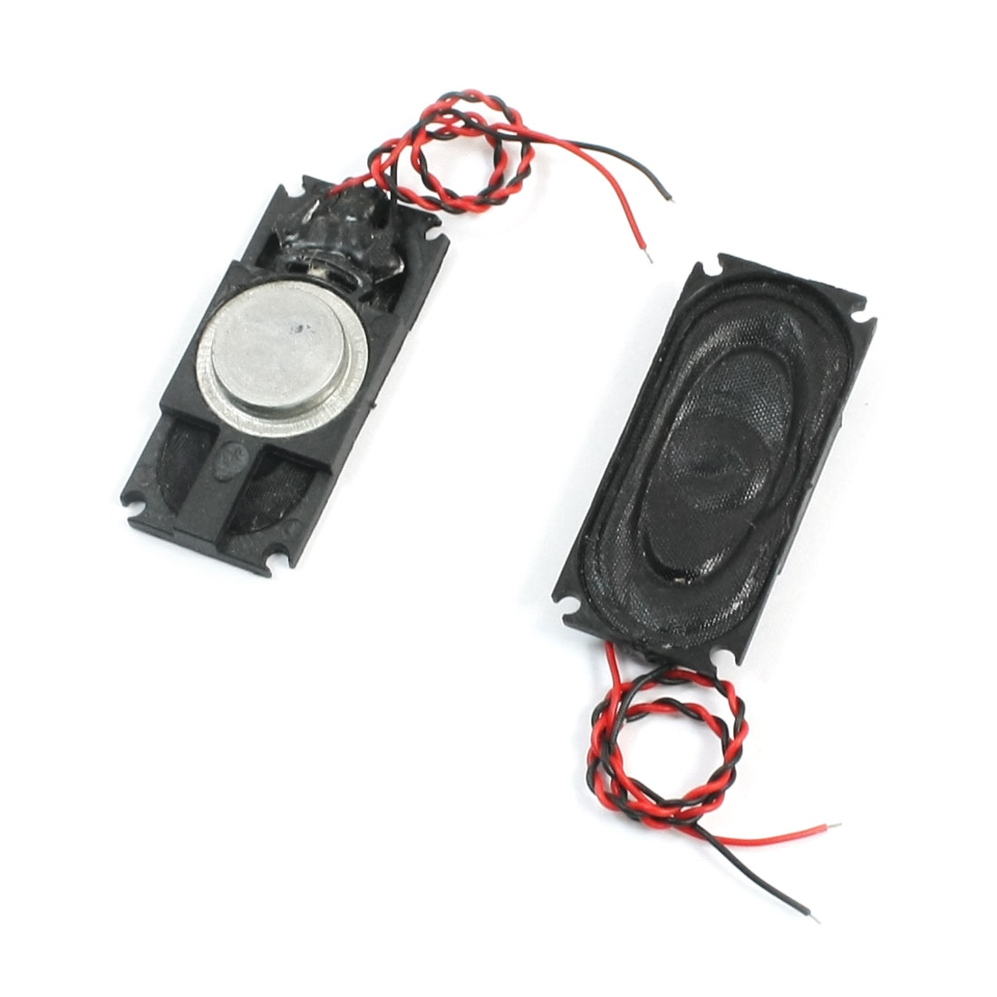 2Pcs 1W 8 Ohm 2-Wire Connect Black Rectangle Case Notebook Tablet PC Magnet Speaker Audio Amplifier Loudspeaker 36mm x 16mm