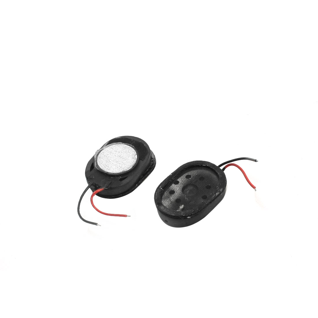 2Pcs 1W 8 Ohm 2-Wired Oval Shaped Plastic Shell Phone Tablet PC Magnet Audio Speaker Loudspeaker Amplifier 17mm x 12mm