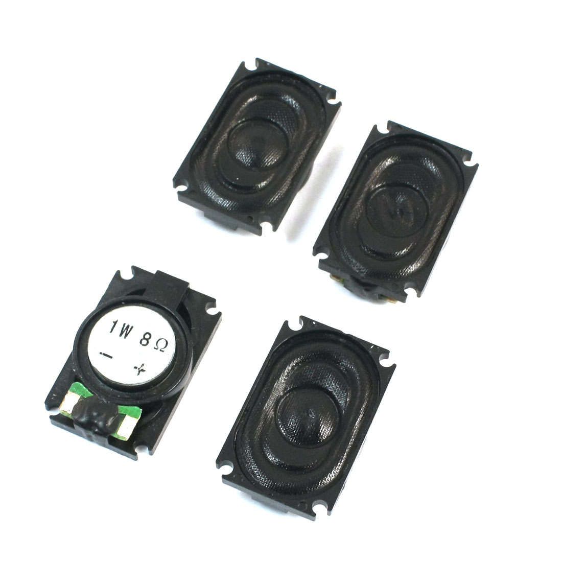 Notebook Music Player Part 1W 8 Ohm Magnetic Type Rectangle Shell Audio Speaker Loudspeaker Amplifier 25mm x 15mm 4 Pcs