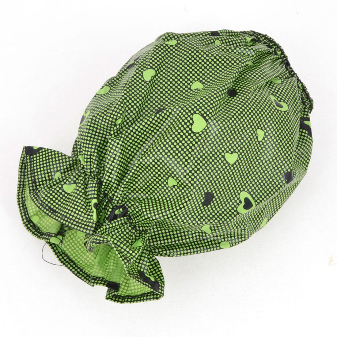 Women Dot Pattern Decor Green versleeve Sleevelet Pair