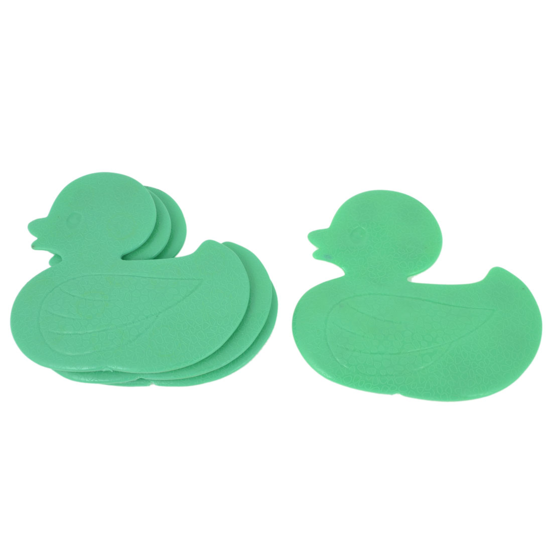 4pcs Green Duck Style Nonslip Mat w Sucker for Bathroom