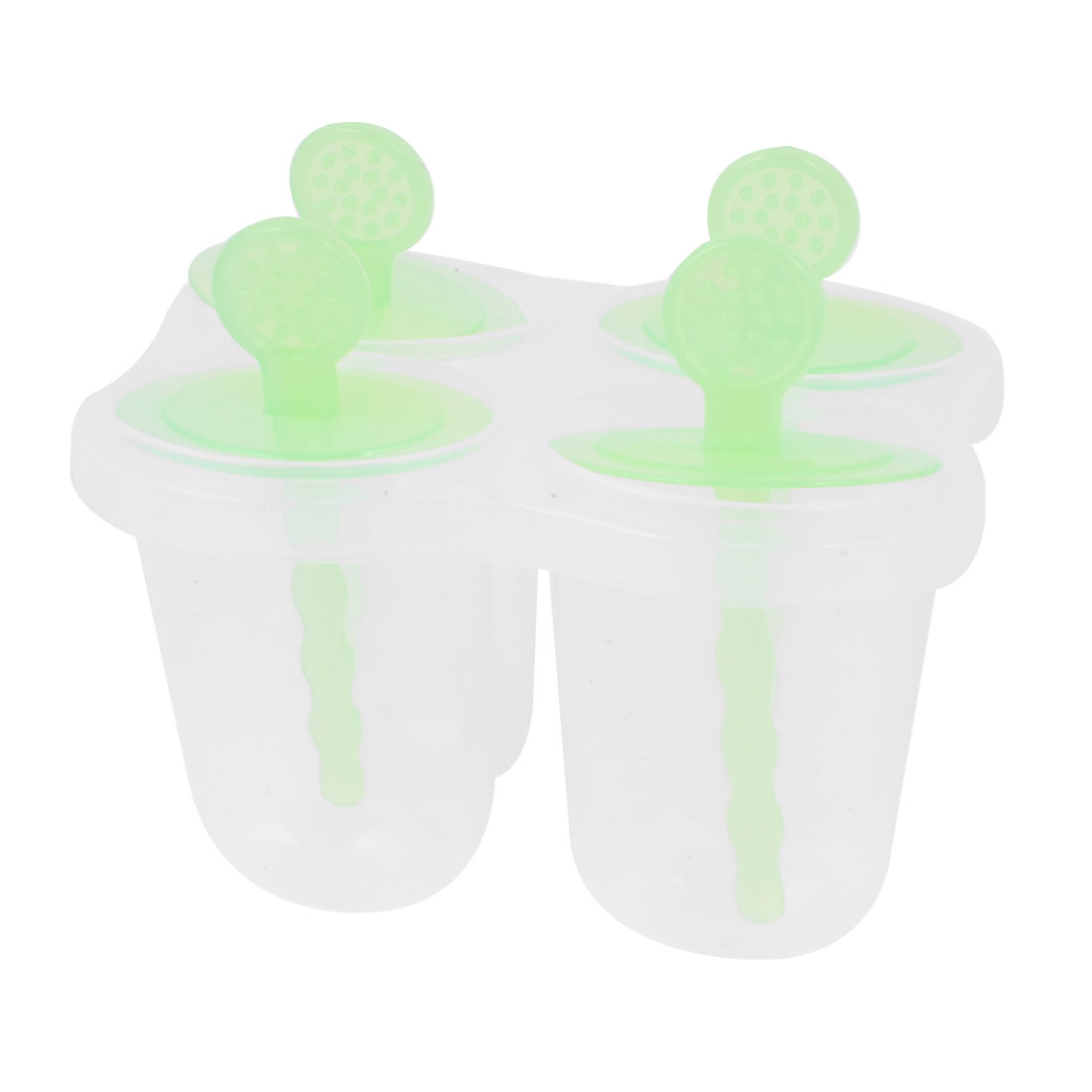 Green 4 Compartments Plastic DIY Candy Bar Maker Ice Cube Mold Mould
