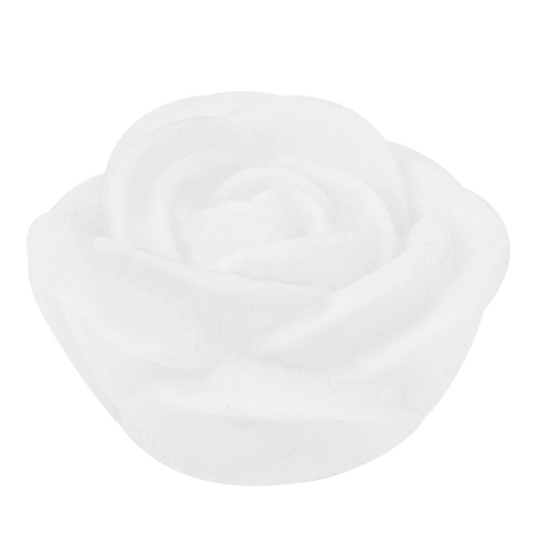 Bedroom White Plastic Rose Colorful LED Light Night Lamp