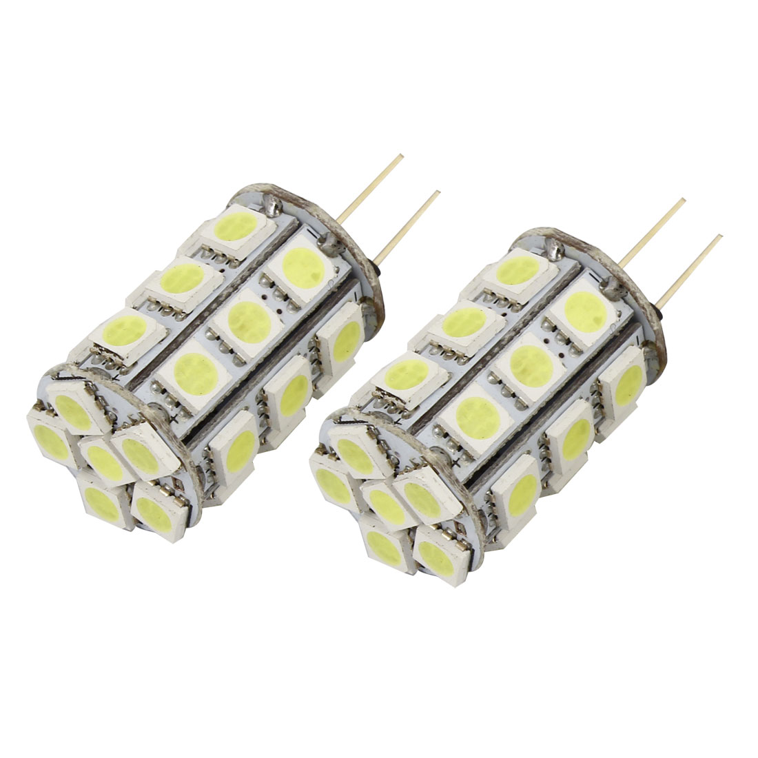 Car Bin Pin G4 5050 SMD 27-LEDs White Marine Boat Camper Light Bulb Lamp Internal
