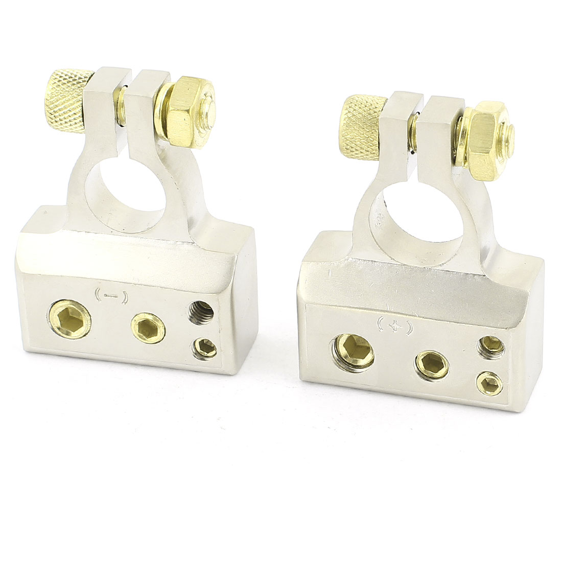Pair 2 Post Battery Terminals Positive Negative for Car Truck DC 12V