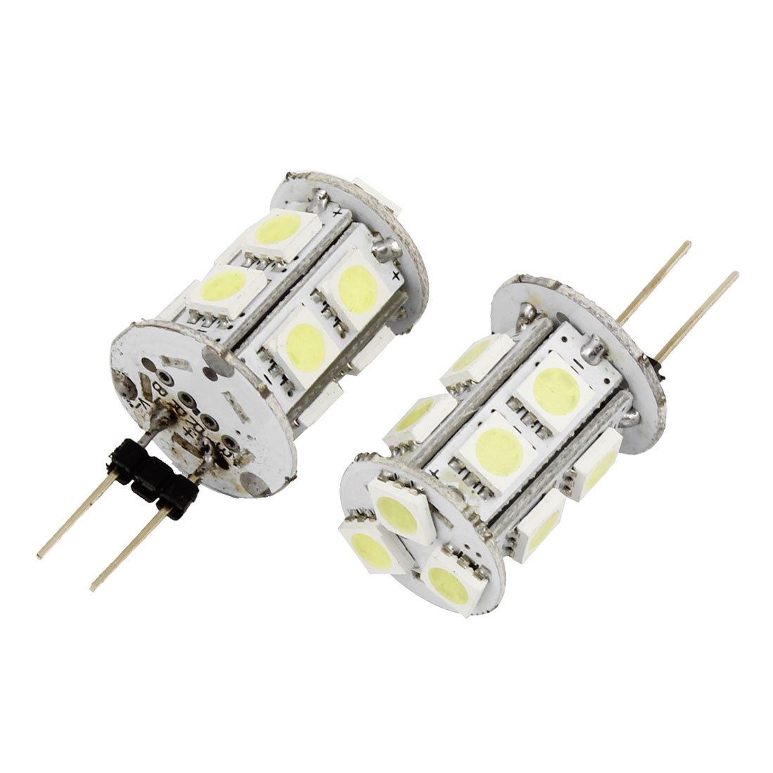 Car Bin Pin G4 5050 SMD 13-LEDs Tower Type White Marine Boat Light Lamp 2 Pcs Internal