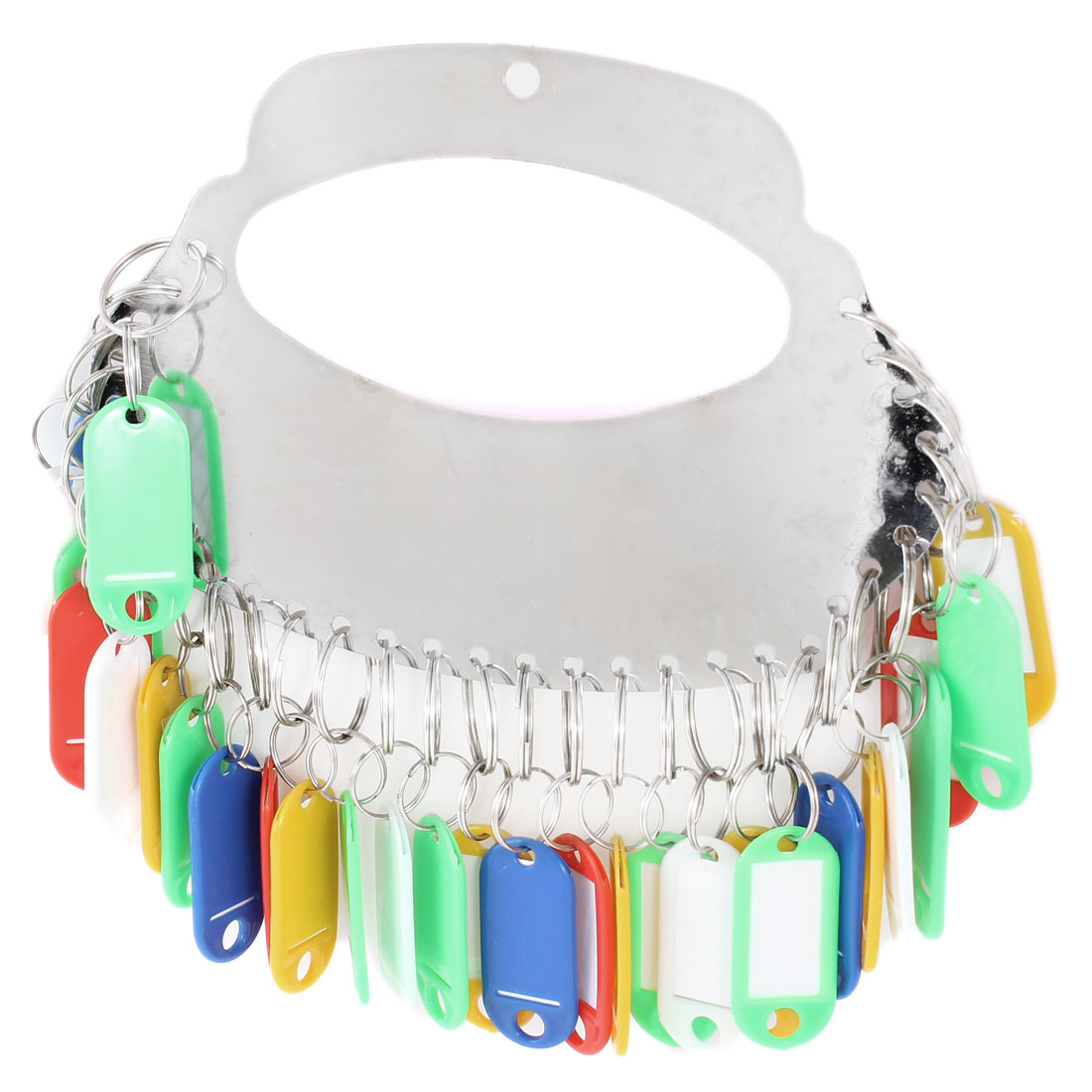 Separable 30 Rings Keys Organizer Board w Colorful Name Badge Clip Holder
