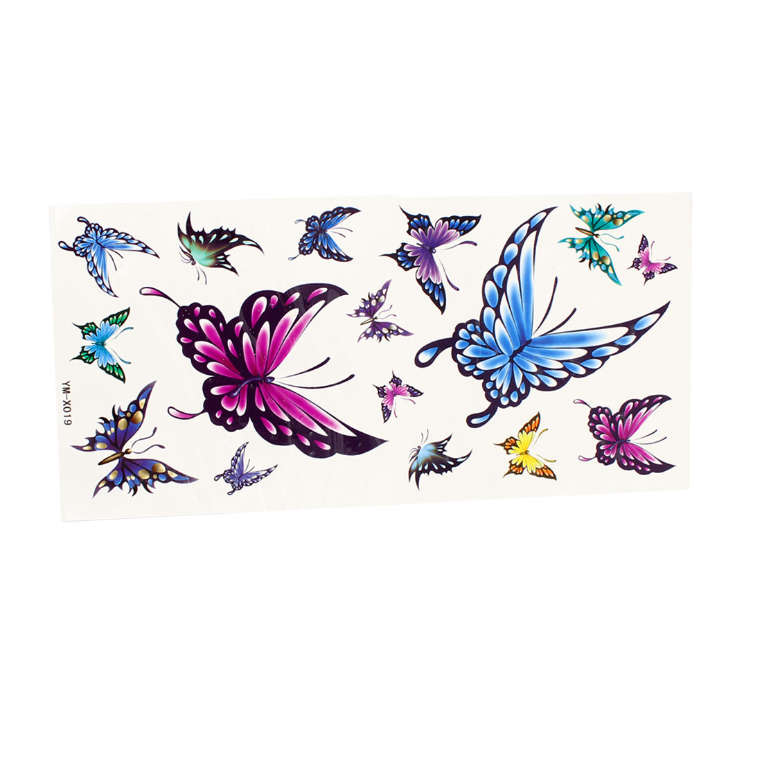 Skin Decorative Butterfly Pattern Temporary Transfer Tattoos Sticker Colorful