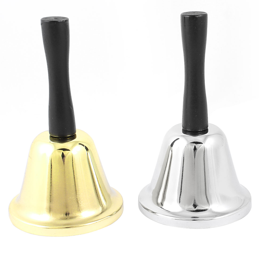 Restaurant Cooks Hand Operated Plastic Handle Handbell TwoTone 2 Pcs