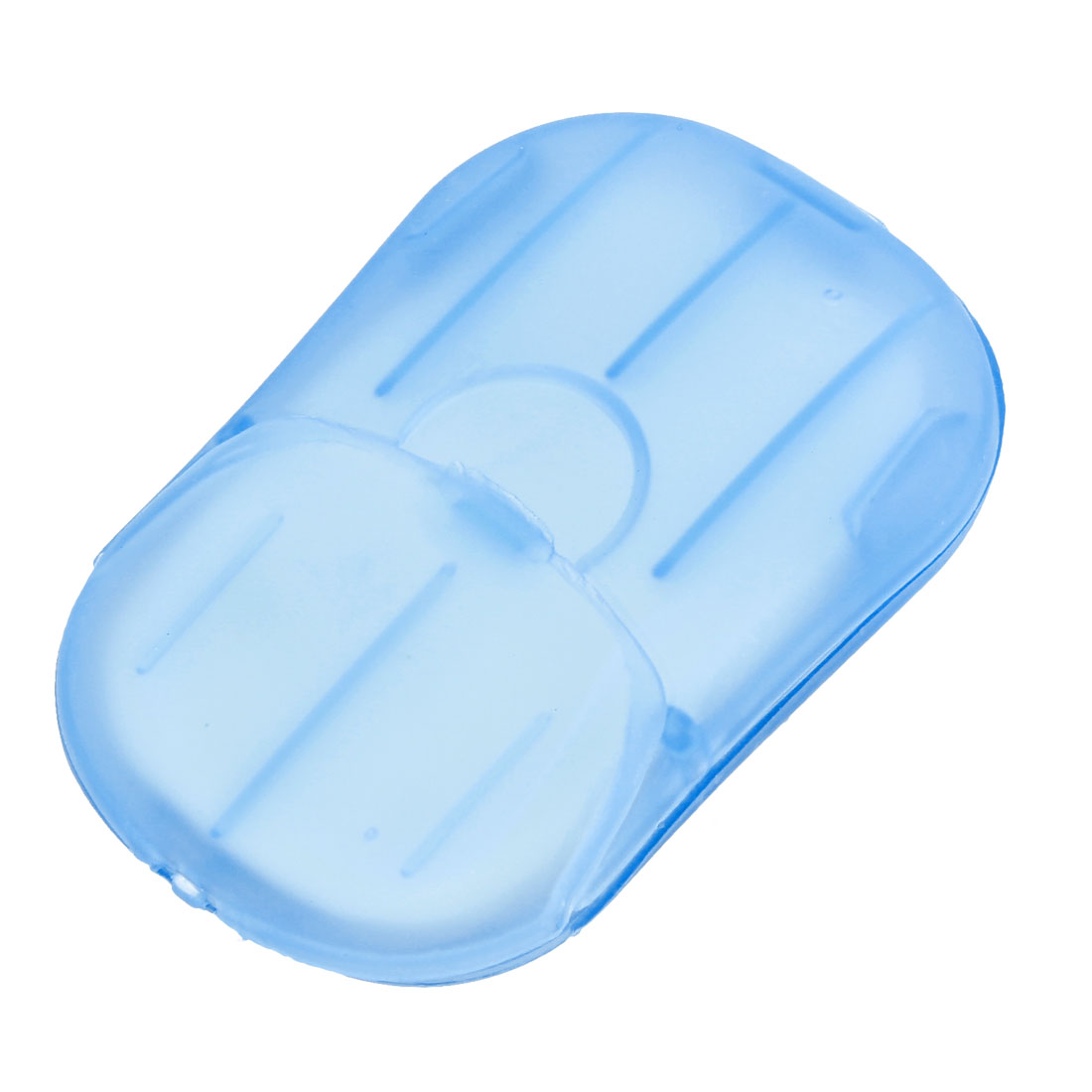 Bathing Blue Plastic Case Holder Fragrant White Paper Soap Sheets