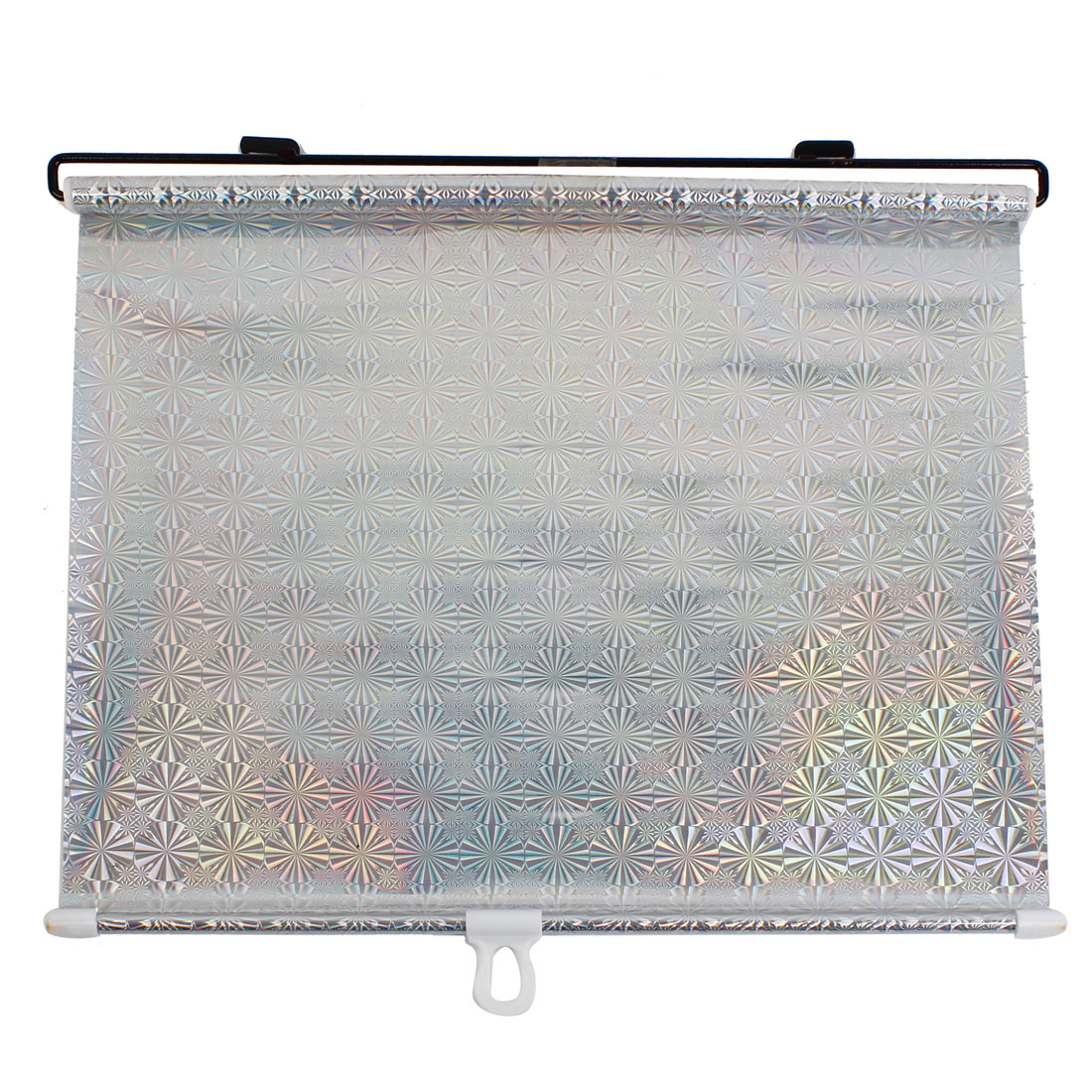 Silver Tone 125 x 50cm Vehicle Car Window Sun Shield Shade Visor