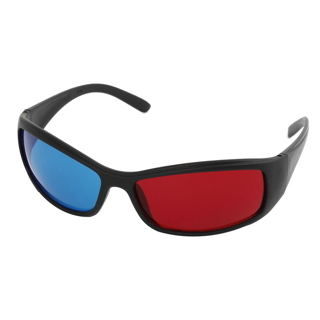 Moive Games Single Bridge Red Blue Lens Black Frame 3D-Glasses