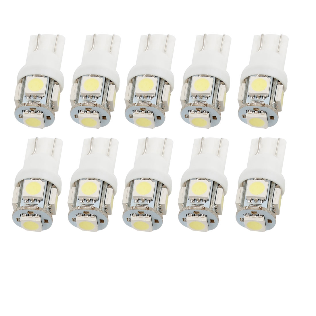 10 Pcs T10 5 SMD 5050 SMD Bulbs White 194 168 W5W LED Wedge Car Light Internal