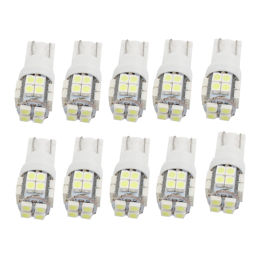 10 Pcs Car T10 W5W 1210 SMD 20-LED Wedge Light Dashboard Lamp Bulbs White Internal