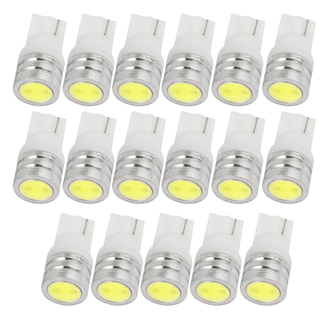 20 Pcs 12V 1W T10 Wedge LED Interior License Plate Signal Light White Internal