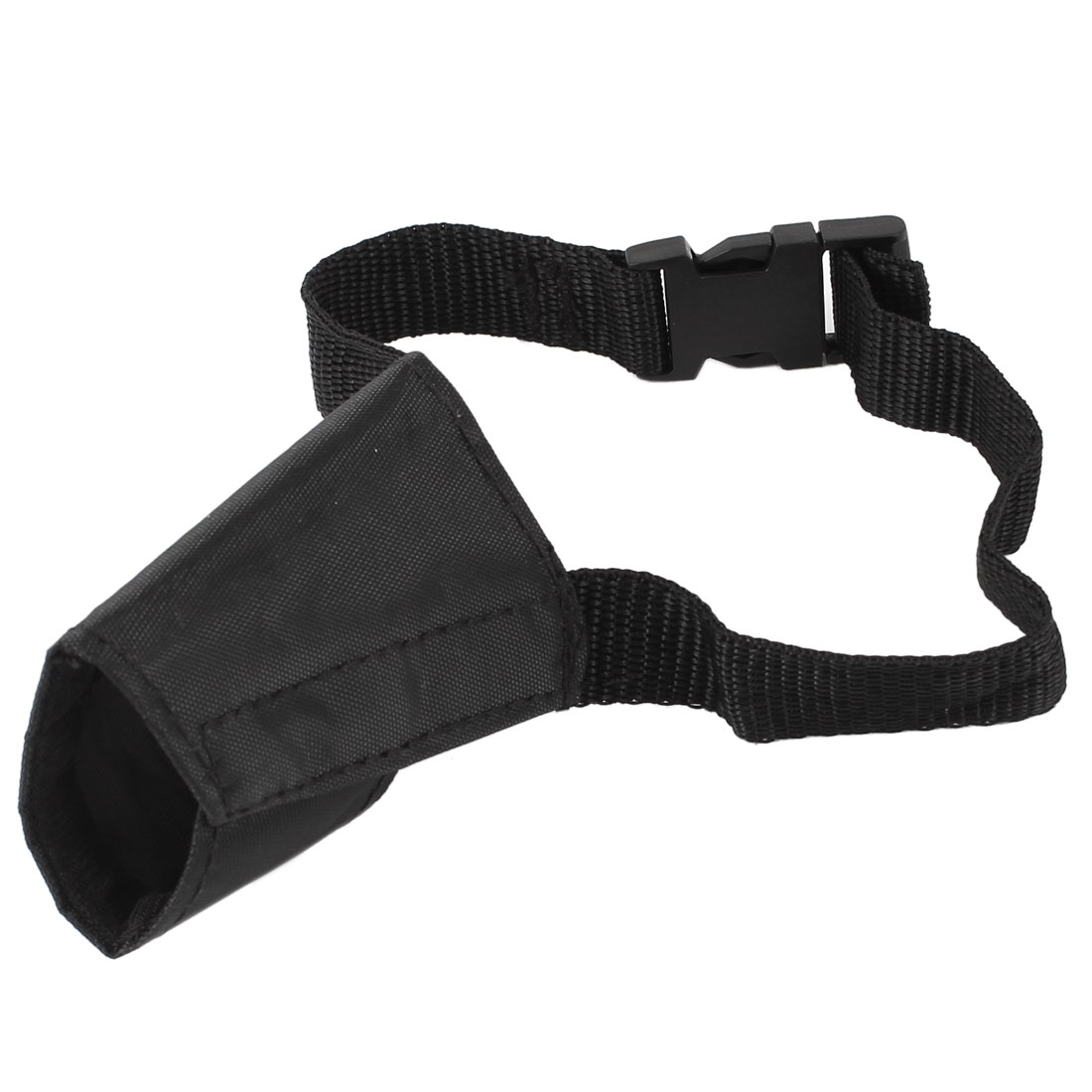 Adjustable Band Quick Release Buckle Anti Bark Bite Chew Muzzle Mask Guard Cover Black for Pet Dog Puppy