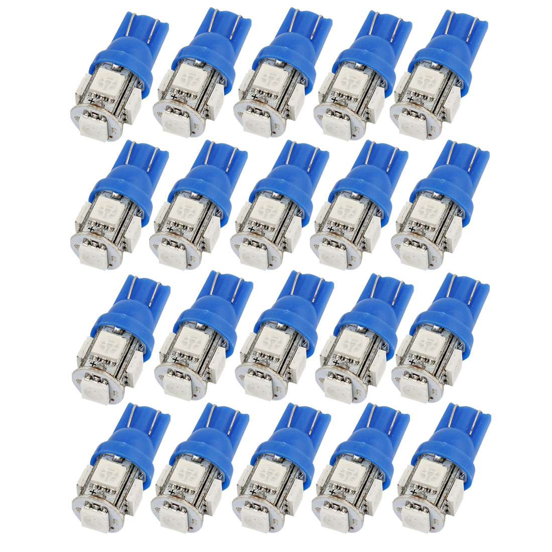 20 Pcs T10 W5W Blue 5 5050 SMD LED Car Interior Light Internal